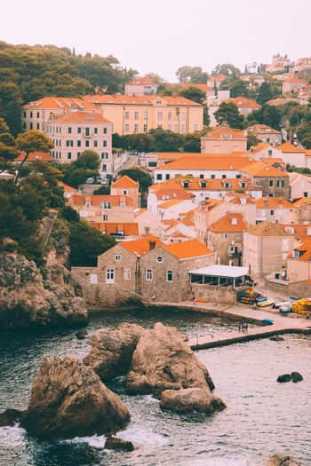 Dubrovnik Croatia Water River Travel Destinations Rock - Object Architecture Tourism Building Exterior Travel Built Structure No People Outdoors Day Nature Clear Sky Tree Nautical Vessel Sky City