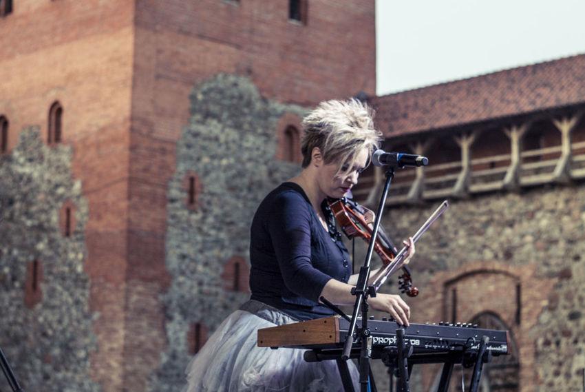 Belarus Castle Concert Focus On Foreground Keys Lida Lifestyles Outdoors Stage