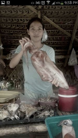 Giant squid vendor Only In The Philippines Taking Photos Check This Out Giant Squid