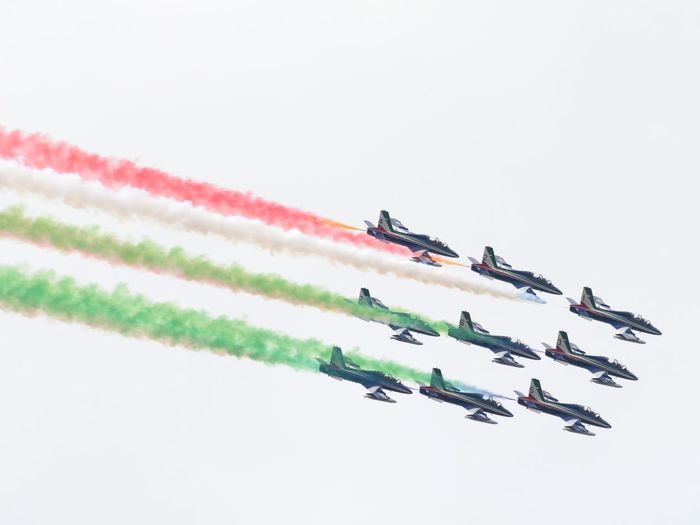 Airshow Frecce Tricolori Feltre Airplane Air Vehicle