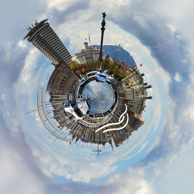 Little planet 360 degree sphere. Panoramic view of Barcelona. Spain 3 Dimensional 360 Degree Architecture Barcelona, Spain Catalonia Circle Earth Panorama Panoramic SPAIN Skyline Sphere Tiny Bridge Cloud - Sky Globe Landscape Miniature Outdoors Planet Port Vell Three Dimensional Three Dimentional Photography World Worldwide