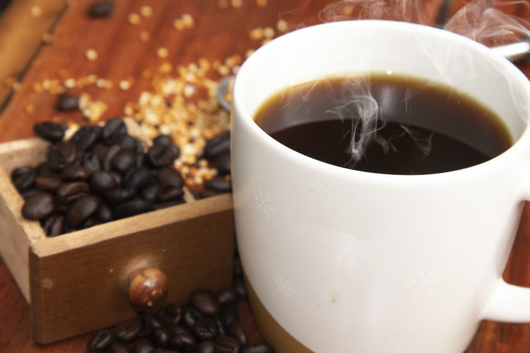 Close-up of coffee cup