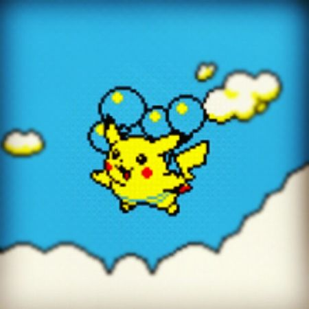 Pikachu Pokeball Pokémon Pokedex ballon sky bleu eclair gameboy nitendo yellow jaune free