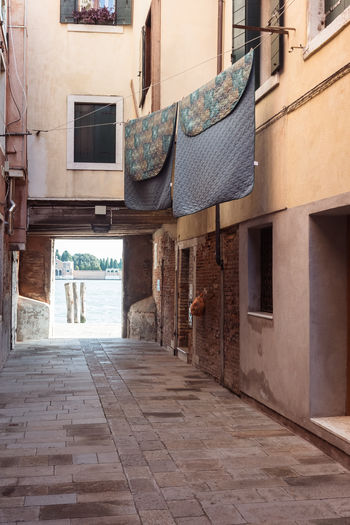 Alley Architecture Building Building Exterior Built Structure City Cobblestone Courtyard  Day Direction Empty Entrance Footpath House No People Outdoors Residential District Street The Way Forward Town Venice Window