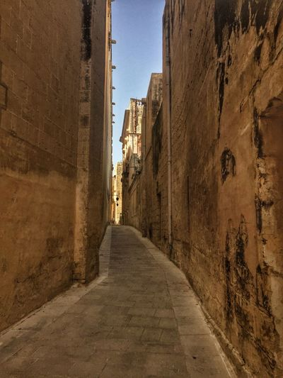 Narrow Alley in Rabat, Malta Architecture Building Exterior Built Structure City Day Narrow Narrow Alley No People Outdoors Sky The Way Forward