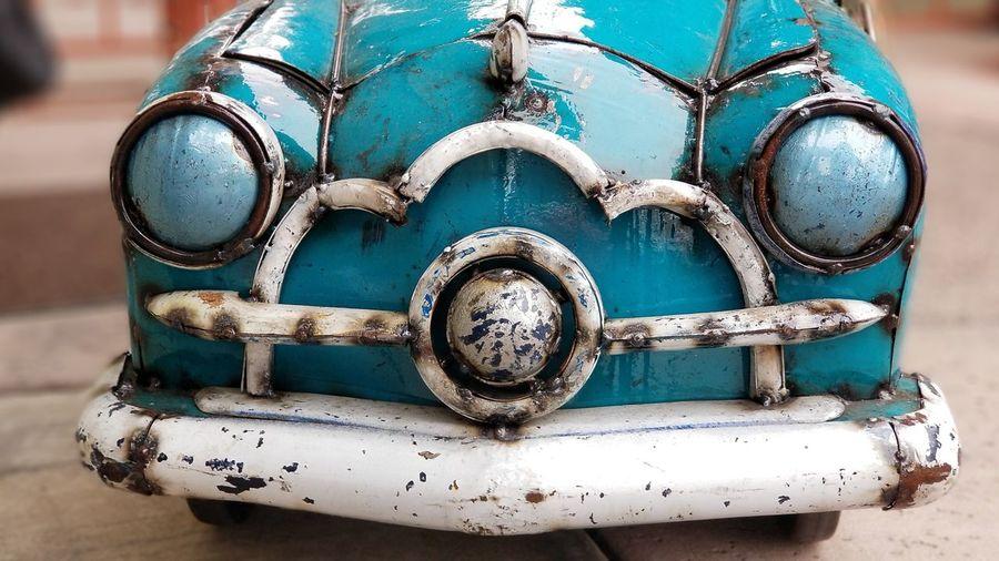 Rustic retro toy car headlights