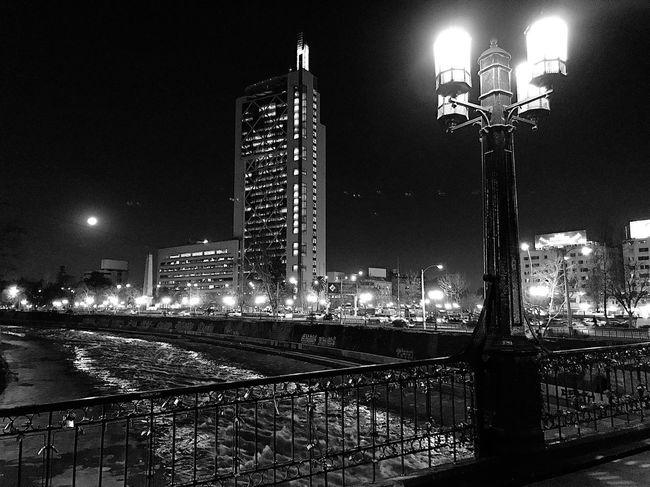 Puente Pío Nono, Region Metropolitana Chile Night Street Light Architecture City Built Structure Cityscape Building Exterior Lighting Equipment Illuminated