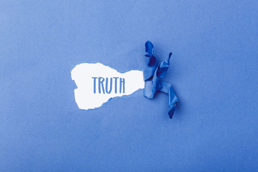 Communication Text Words Header Title Banner Truth Western Script Copy Space No People Blue Sign Capital Letter Blue Background Single Word