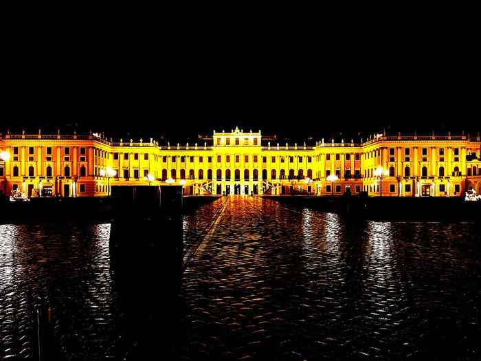 No People Architecture Night Outdoors In Front Of Schönbrunn, Vienna Austria Vienna Austria Sisi Sissi's Palace Kaiser Franz First Eyeem Photo