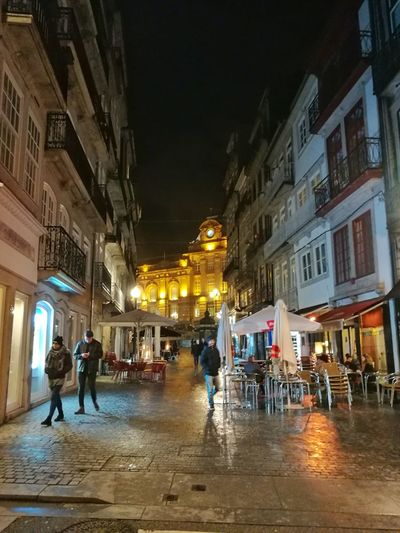 Rua das Flores Porto Portugal Porto Streetphotography Night Architecture Illuminated City Built Structure People City Life Building Exterior Travel Destinations Large Group Of People Outdoors