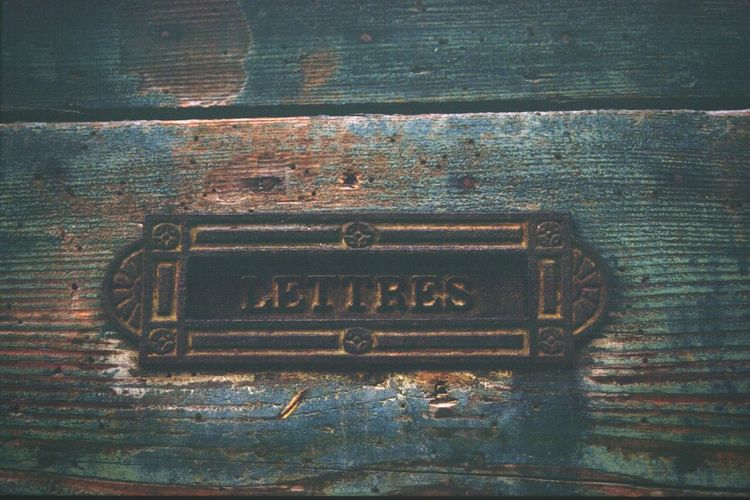 Mailbox Boîte Aux Lettres Porte Door Buzon Metal TBT  Positive Film France🇫🇷 郵便受け Antique
