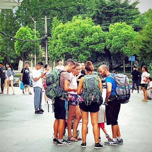 背包客旅行者 Group Of People Men Adult Togetherness Women Real People Friendship