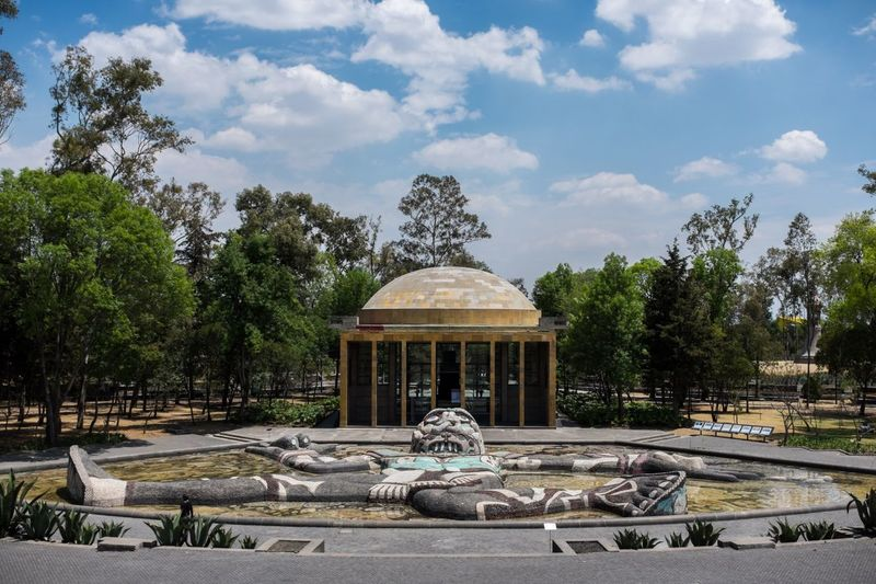 Bosque de Chapultepec Bosque De Chapultepec México Woods Sculpture Mexico City Mexico Nature Architecture Mexicano Sunny Travel Clouds And Sky Blue Sky Warm