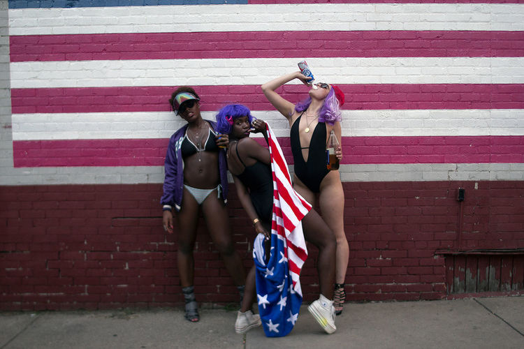 Adult Adults Only American Flag SexyGirl.♥ Adult America Day Fashion Model Fashion&love&beauty Flag Outdoors Patriotism People Purple Real People Sexygirl Sexywomen Stars And Stripes Street Photography Striped Togetherness Urban Women Young Adult Young Women