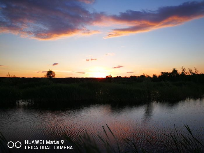 Sunset Cloud - Sky Lake No People Landscape Sky Nature Outdoors Scenics Water Beauty In Nature Day