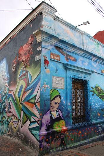 Street Art Bogota Art And Craft Artist Bogotá Building Exterior City Creativity Day Graffiti Multi Colored Painter - Artist Streetart