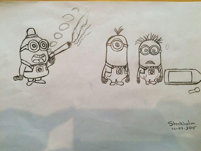 Painting Despicableme Cartoon Booring Swedish Summer Stockholm Sweden Swedish Moments Sverige
