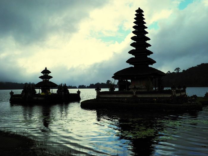 Lake Lake View Temples Architecture On Water Meditation Outside Photography Countryside Bali, Indonesia