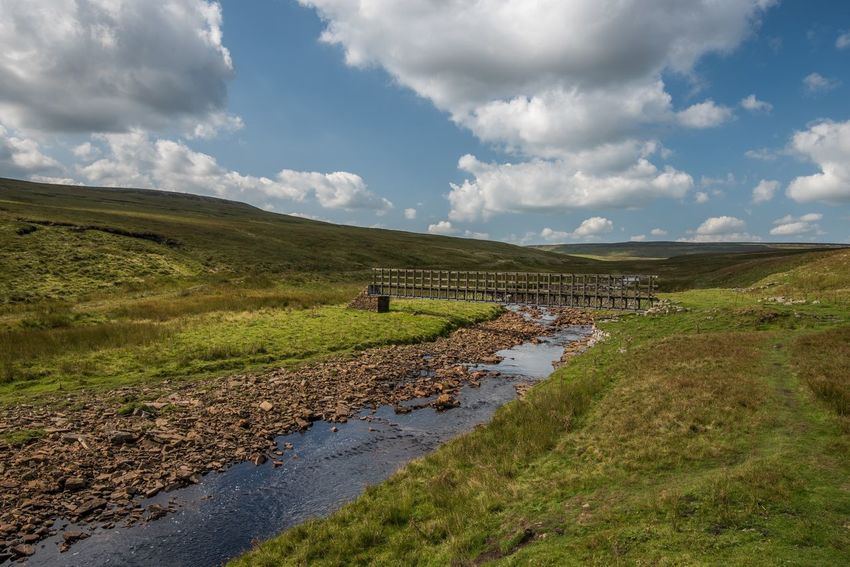 Footbridge over Maize Beck, walking the Pennine Way Walking Skyporn Water_collection Clouds And Sky Hiking Hikingadventures EyeEm Best Shots Eye4photography  Sky And Clouds Sky_collection Landscape_Collection Landscape_photography EyeEmBestPics EyeEm Gallery Water Cloud - Sky Sky Land Scenics - Nature Nature Landscape Green Color Tranquility