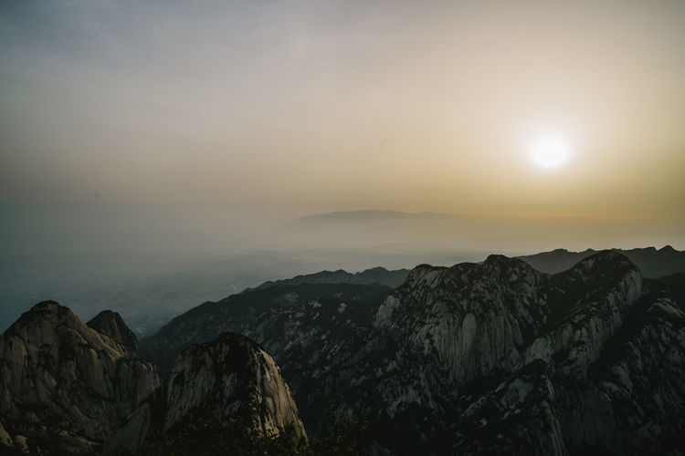 Sunrise in Mountain Hua Beauty In Nature Landscape Mountain Range No People Non-urban Scene Scenics Sky Sun Sunrise Tranquility Travel Destinations Travel Photography