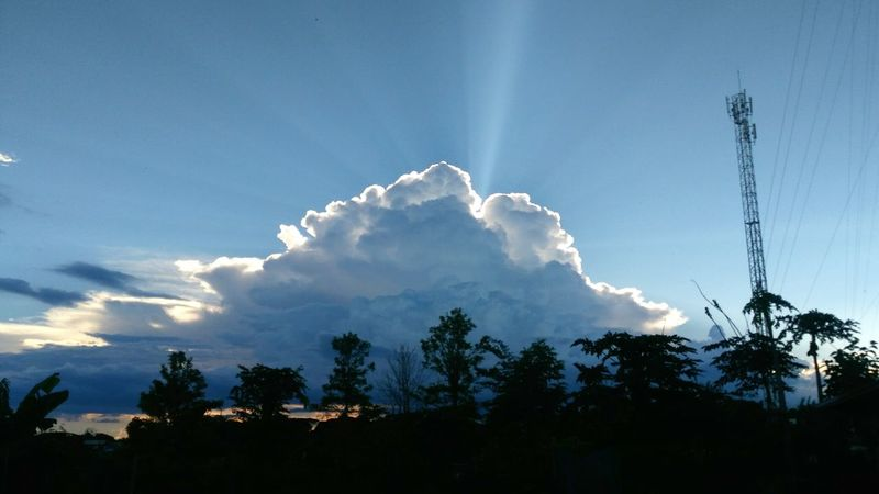 Sky Nature Blue Cloud - Sky Beauty In Nature Day Thailand Sakon Nakhon