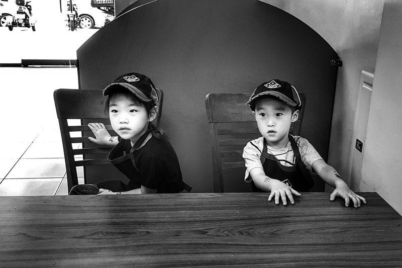 PartTimeJob Child Headwear Childhood Togetherness Boys Girls Sitting
