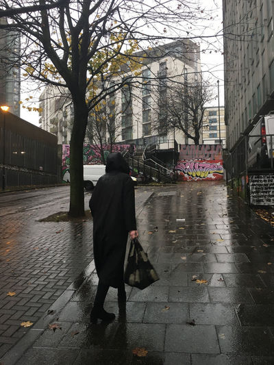 Rain One Person Walking Women