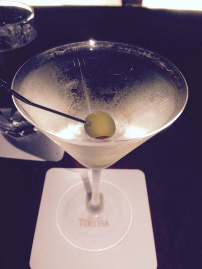 I am drinking the royal road of martini cocktail.