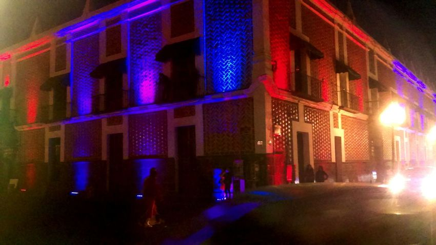 Battle Of The Cities Illuminated Architecture Building Exterior Built Structure Night Window City Multi Colored Outdoors City Life Light Beam Office Building Nightlife