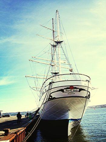 Gorch Fock at #harbour in #Stralsund! #ship #sailing #Schiff #Hafen #Segeln