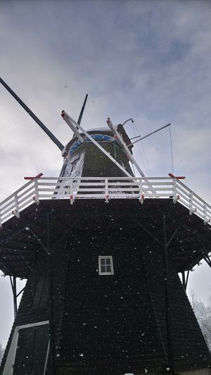 Windmill Snow Winter Clouds Business Finance And Industry Technology Progress No People Outdoors Day Sky