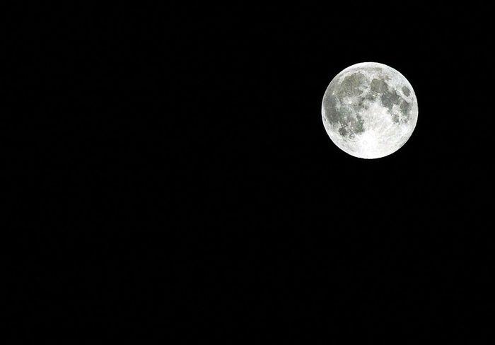 Moon Moon Full Moon Bright Clear Sky Space Planetary Solar System Celestial