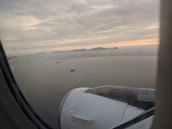 Plane Travel Water Sunset Sea Beach Sky Landscape Cloud - Sky Close-up Travel