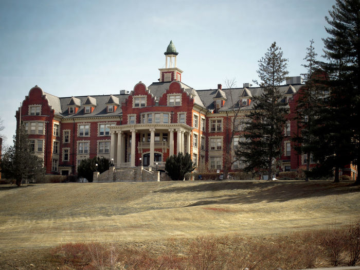 Brick mansion that was once a Catholic girl's school in Hooksett, New Hampshire. Architecture Brick Building Exterior Built Structure Catholic School For Girls City Day Galt Historic Historical Building Hooksett Manor Mansion Mount St Mary's New Hampshire No People Outdoors Sky