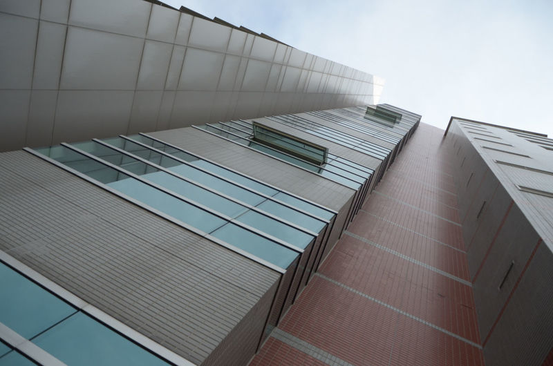 Low angle view of building in city