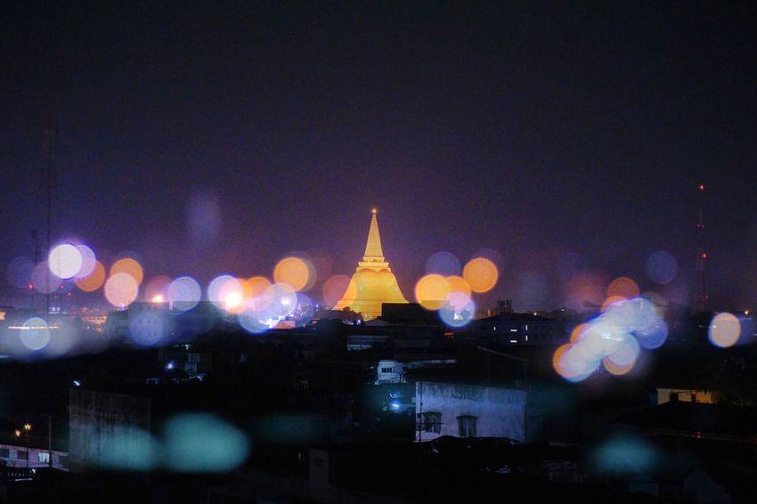 Outdoors Night Prapathomchedi Nakorn Phathom Thailand Destination Buddhist Temple Faith Vacation ASIA
