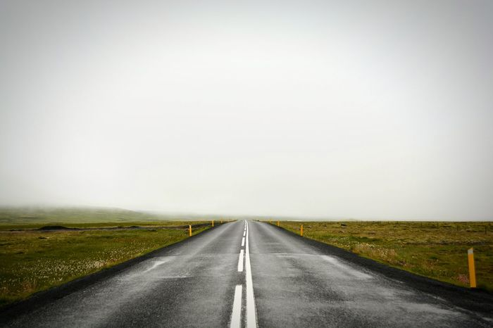 Road The Way Forward Tranquil Scene Lonely Country Road Empty Long Way To Heaven Landscape Calming Cloudyday Breathing Straight Forward Going On Nikon D5200 Iceland_collection Solitude Landscape_Collection Idyllic Beautiful Environment Nature Outdoors No People Mothernature