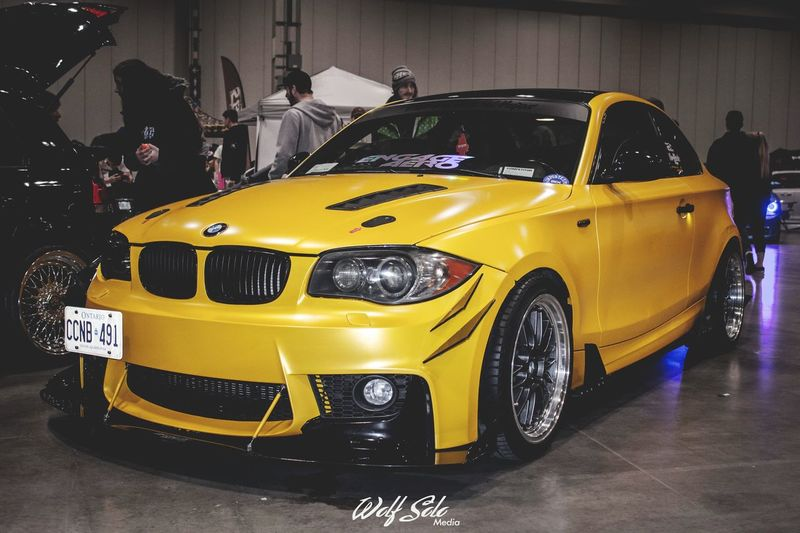 Stand out from all the others, and dare to be different. Bmwmotorsport Importexpo Carswithoutlimits Stancenation Stance Bmw Car Motor Vehicle Yellow Street