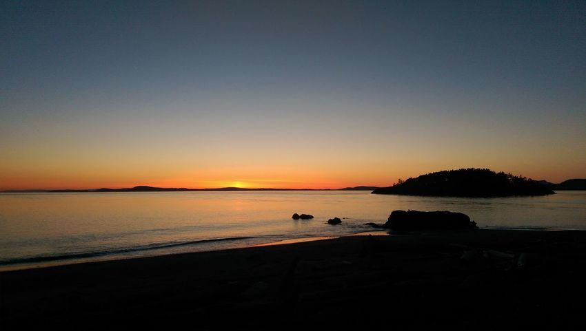 Sunset Whidbey Island Beach Island Deception Pass Pacific Northwest  Pacific Ocean Washington State San Juan Islands