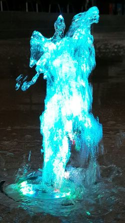 City City Life Fountain Fountains Evening Blue Water Splashing Close-up Splattered City Location Spraying Urban Scene