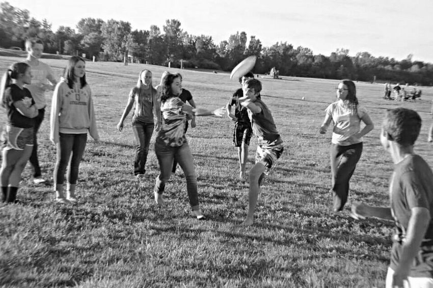 Ultimate Frisbee Black & White Black And White People