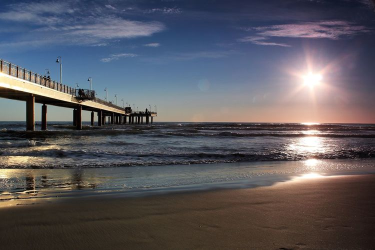 The pier of Marina di Pietrasanta Travel Architecture Beach Beauty In Nature Built Structure Cloud - Sky Day Horizon Over Water Nature No People Outdoors Sand Scenics Sea Sky Sunlight Sunset Tranquility Travel Destinations Vacation Water