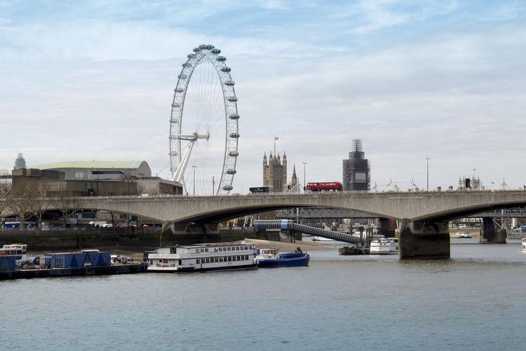 Lonon Eye London London Eye Architecture Bridge City Cloud - Sky Outdoors Sky Travel Water