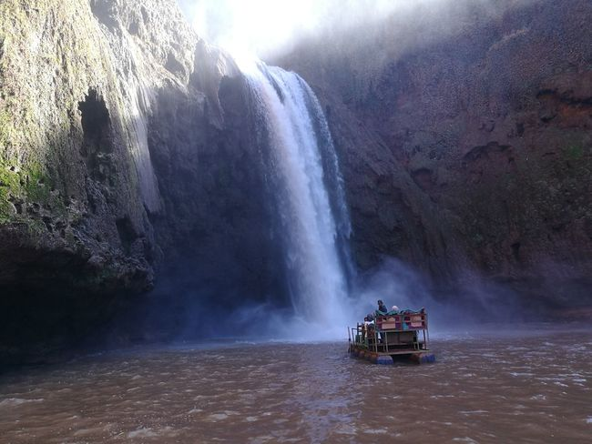 Beauty In Nature Boat Day Motion Nature Outdoors Ouzoud Ouzoud Falls People Scenics Spraying Trip Water Waterfall