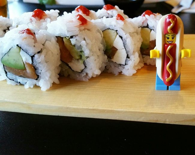 Philly time SushiBar LEGO Hotdogwoman