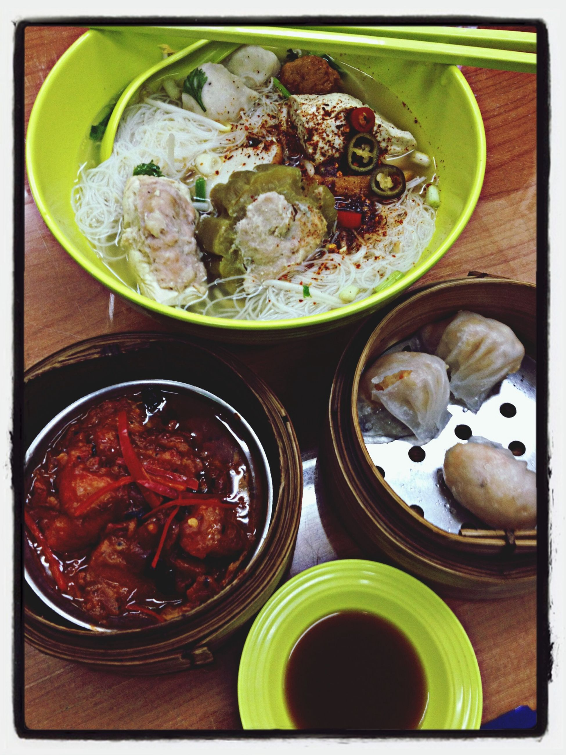 transfer print, food and drink, food, auto post production filter, high angle view, freshness, indoors, bowl, healthy eating, directly above, still life, plate, table, ready-to-eat, close-up, container, meal, serving size, no people, spoon