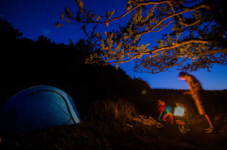 Camping Lights Panorama Beauty In Nature Campinglife Fire Mountine Nature Outdoors Sky