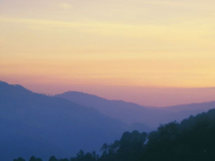 Lil blurred! Sunset Mountain Mountain Range Hi Check This Out! Hello World Taking Photos Enjoying Life First Eyeem Photo Nature Beauty In Nature No People Sky Tree Forest EyeEm Best Shots Outdoors Scenics