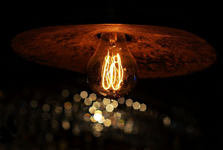 Bokeh Lights Bokeh Photography Bokehlicious Circle Close-up Electric Lamp Electric Light Glowing Illuminated Lighting Equipment Low Angle View Night
