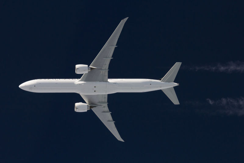 Boeing777 Inflight Air Vehicle Airplane Airplane Wing Boeing777 Clear Sky Day Flying Inflight Journey Mid-air No People Outdoors Sky Transportation